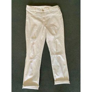 Distressed American Eagle White Jeans Size 14 Long